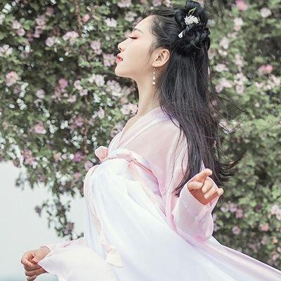新版件套古装仙女裙连衣裙汉服唐制中国风夏季仙气白菜全套齐腰襦