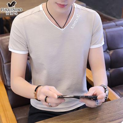 2020男装新品短袖男士t恤夏季纯棉衣服男生潮流韩版新款半袖体恤