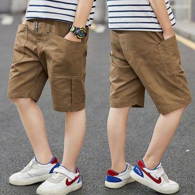 儿童短裤男童夏季纯棉五分裤宽松薄款外穿2021年新款中大男孩帅气