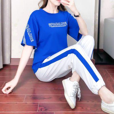 2020运动套装女短袖夏季新款韩版网红时尚洋气女神气质休闲两件套
