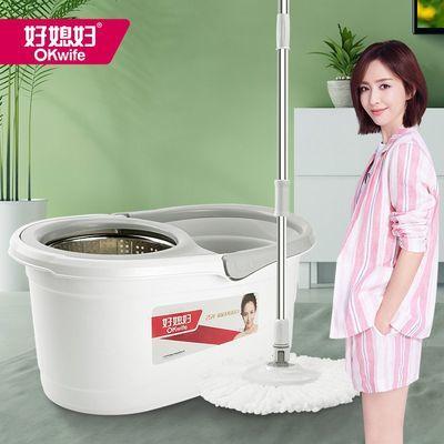 好媳妇旋转拖把免手洗网红懒人拖把家用墩布脱水甩干桶地拖桶拖布