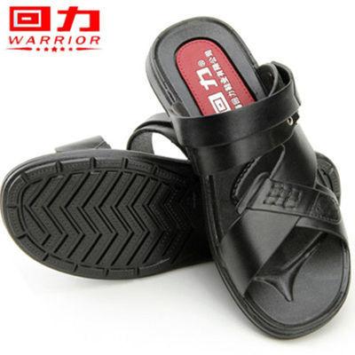 新品上海回力男士沙滩鞋休闲透气凉拖鞋男韩版露趾橡胶防水凉鞋爸