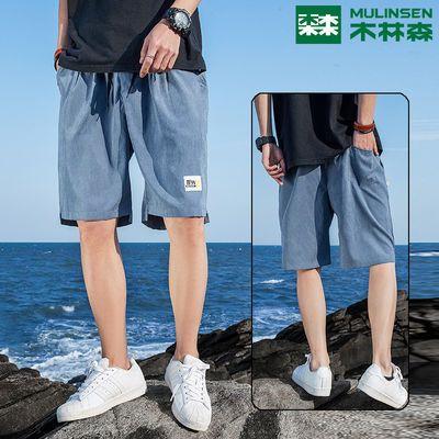 木林森短裤男士夏季薄款宽松休闲七分裤子ins潮流沙滩裤5五分裤