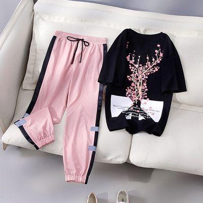 时尚运动休闲套装女特色网红显瘦时尚潮流洋气两件套女夏季潮牌