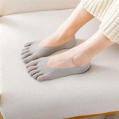 3/5双装 女士五指袜船袜隐形浅口丝袜硅胶防掉跟薄款透气分脚趾袜