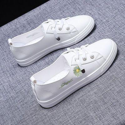 浅口小白鞋女2020新款韩版百搭学生懒人鞋夏季透气单鞋平底板鞋潮