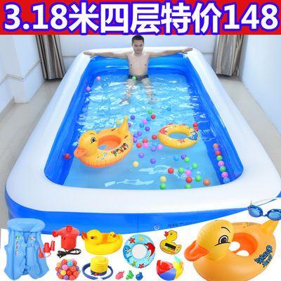 超大号儿童充气游泳池加厚宝宝充气水池婴儿游泳桶成人家用洗澡池