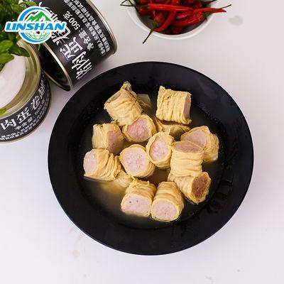 凌翔猪肉蛋卷2罐/4罐/6罐午餐肉罐头军工加热即食便携食品500g