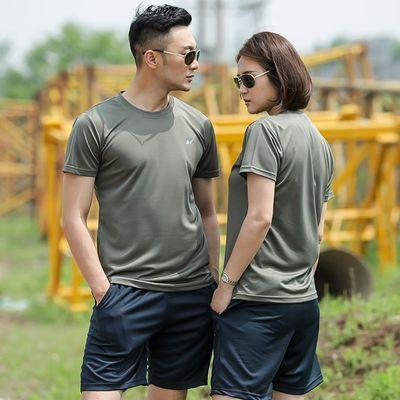 夏季体能训练服套装男女特种兵正品短袖作训军迷t恤速干衣迷彩服