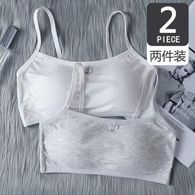 内衣女学生韩版无钢圈薄款可爱简约日系抹胸文胸青春期小吊带背心