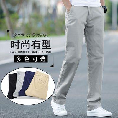 夏季休闲裤男宽松直筒薄款长裤子男士西裤中青年弹力百搭2020新款