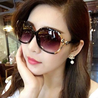 2020新款女士偏光太阳镜圆脸网红墨镜女潮明星款防紫外线大框眼镜