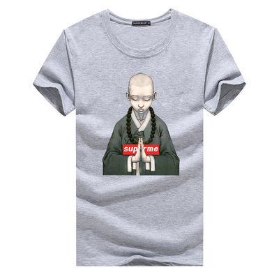 90-220斤夏装短袖T恤男宽松韩版青少年学生兄弟班服打底衫上衣服