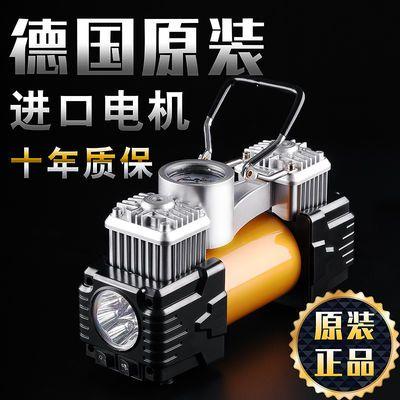 车载充气泵双缸高压12v便携式多功能电动打气泵小轿车轮胎打气筒