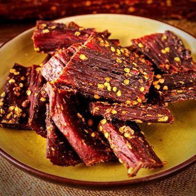 四川甘孜风干耗牛肉干500g 西藏阿坝手撕牦牛肉干 内蒙麻辣小零食