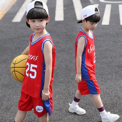 儿童篮球服套装男童运动背心中小学生2020夏季新款透气速干表演服