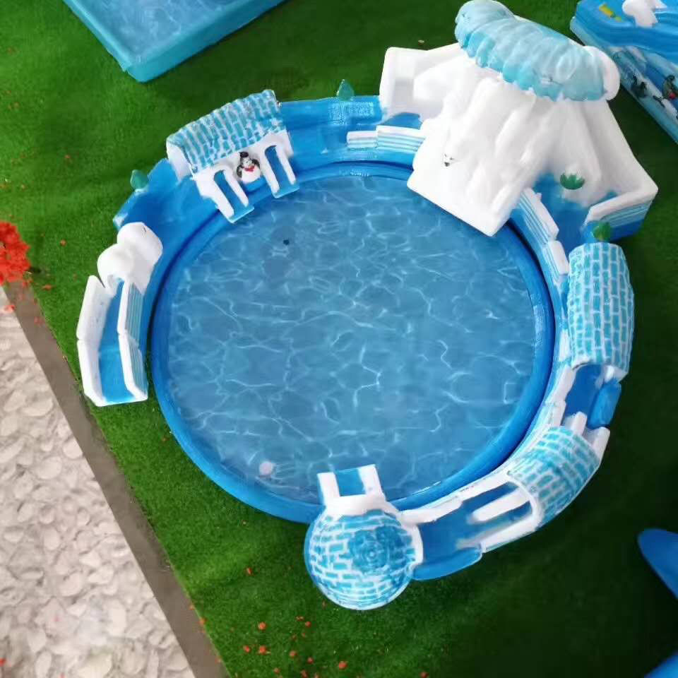 充气冰雪世界水上乐园游泳池滑梯城堡跳床闯关蹦蹦云网红桥气模