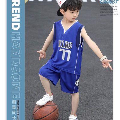 儿童篮球服套装男童男孩夏幼儿园中小童女孩宝宝运动服装训练球衣
