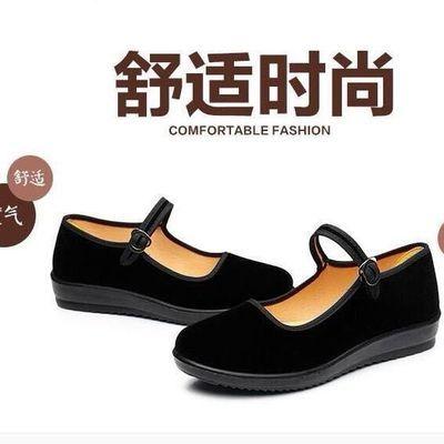 买一一双夏季老北京布鞋女鞋女一字代广场舞鞋酒店鞋休闲工作鞋