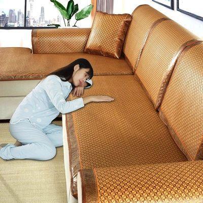 夏季夏天藤席沙发凉席垫沙发垫冰丝坐垫子四季通用全包万能套罩巾