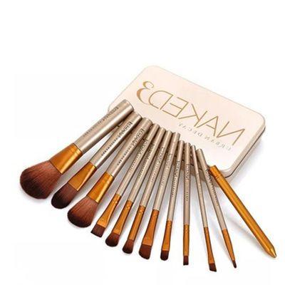 Naked化妆刷子套装 Nk3化妆套刷 12支铁盒便携化妆刷 化妆工具