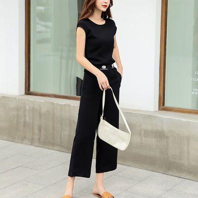 时尚休闲短袖运动服套装女2020年夏装夏季新款小邹菊韩版两件套