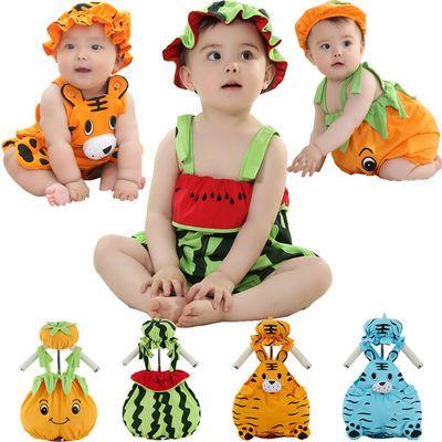 新生儿连体衣纯棉婴儿哈衣宝宝爬服可爱超萌卡通造型衣服拍照夏季