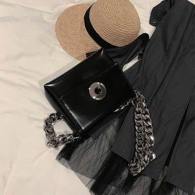 OPEN UP包包女包新款2020单肩小方包时尚百搭粗链条包包女斜挎包
