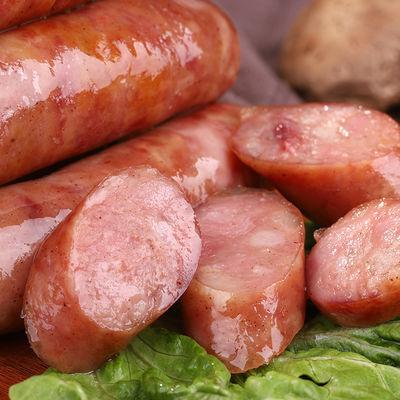 火山石烤肠纯肉肠黑胡椒原味地道肠台湾风味热狗肠烧烤大香肠500g