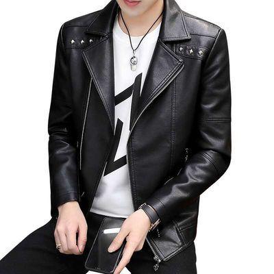 男士茄克新款皮夹克韩版修身潮流小皮衣青年机车服薄款空军外套衫