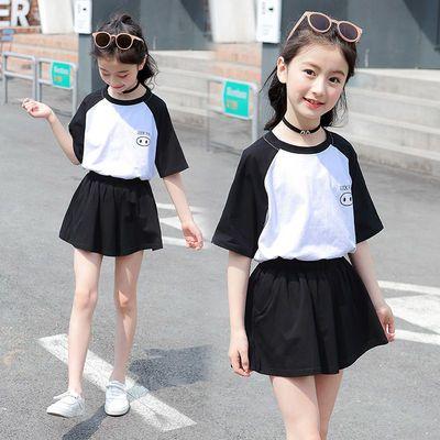 女童时髦短裤套装夏季大童装儿童女孩网红夏装洋气运动两件套衣服