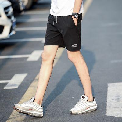 短裤男冰丝裤子男五分裤男士夏季薄款四面弹宽松5XL大裤衩沙滩裤