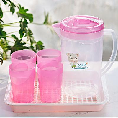 家用水壶塑料耐高温凉水壶套装大容量冷水壶茶壶扎壶果汁壶凉水杯