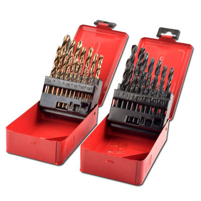 包邮不锈钢专用含钴镀钛高速钢麻花钻手电钻钻头套装