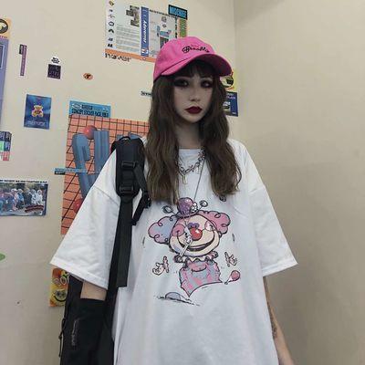 情侣ins潮超火短袖t恤女装2020夏季宽松韩版学生慵懒风嘻哈上衣服