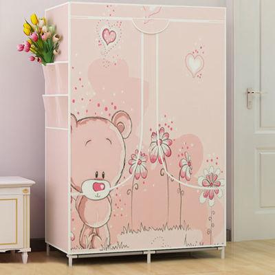 简易衣柜收纳架布衣柜收纳柜大号钢管加粗加固柜子储物柜卧室家具