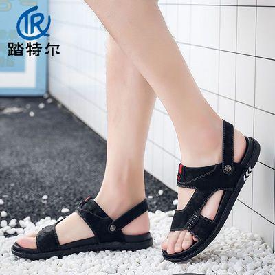 拖鞋男夏季新款凉拖韩版时尚软底外穿休闲一字拖两用潮拖沙滩凉鞋