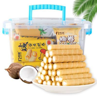 【超值228支】夹心鸡蛋卷饼干好吃的网红香酥蛋卷零食品24一228支