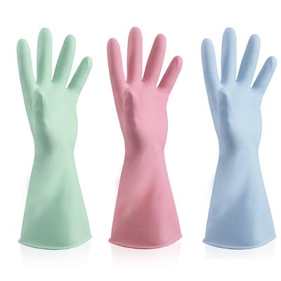 抖音洗菜洗碗刷锅家务清洁女手套春夏季防水耐用厨房橡胶乳胶