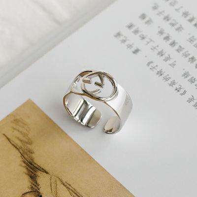 轻奢品牌女士银戒指925时尚个性ins潮日系轻奢网红蹦迪食指复古冷