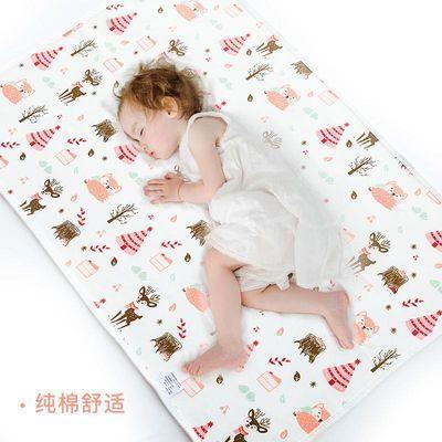 A类纯棉婴儿童隔尿垫防水可洗大号双面防滑透气新生儿用品床尿垫