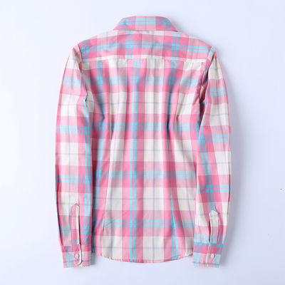 2018秋装新款英伦经典学院风学生衬衣韩版修身纯棉格子衬衫女长袖