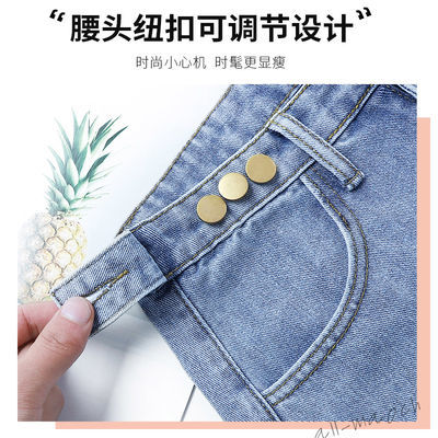 2020牛仔短裤女夏季新款韩版高腰学生宽松翻边百搭阔腿显瘦