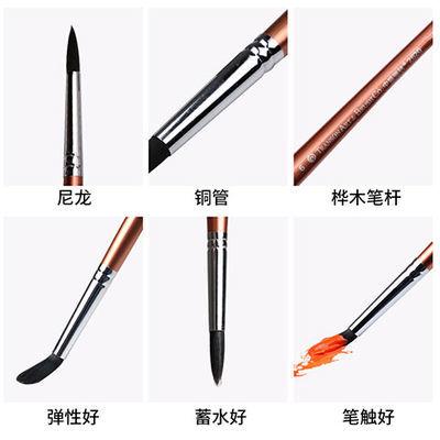 中盛画材 2620狼毫圆头油画笔 水彩笔勾线笔 混合动物毛丙烯画笔