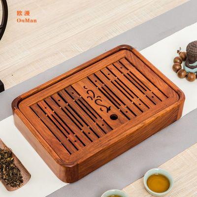 实木茶盘家用简约功夫茶具茶台茶海茶托套装储排水双用中小号茶盘