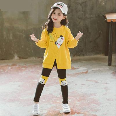 【优质精品】女童秋季新款网红童装洋气中大童秋装儿童卫衣两件套
