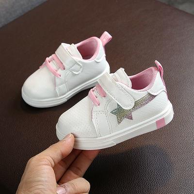 宝宝鞋男0-1-3岁软底防滑女6一12个月春季白鞋透气婴儿学步鞋皮鞋