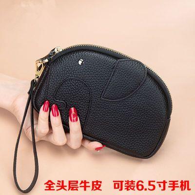新款真皮钱包时尚手机包女士手挽包零钱包简约头层牛皮手包手拿包