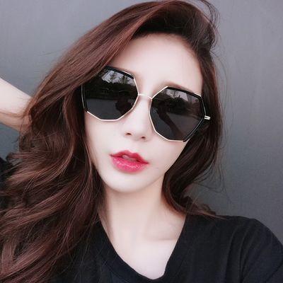 可配近视太阳镜女韩版时尚潮个性网红墨镜圆脸防紫外线百搭复古风