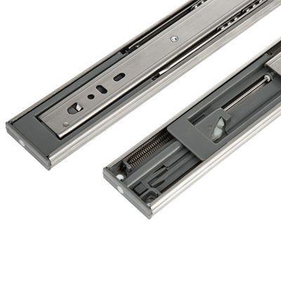 抽屉轨道不锈钢滑轨滑道阻尼缓冲静音三节轨 电脑桌键盘二节导轨